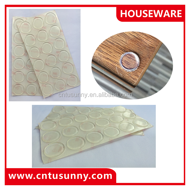 adhesive rubber cushion pad for glass table