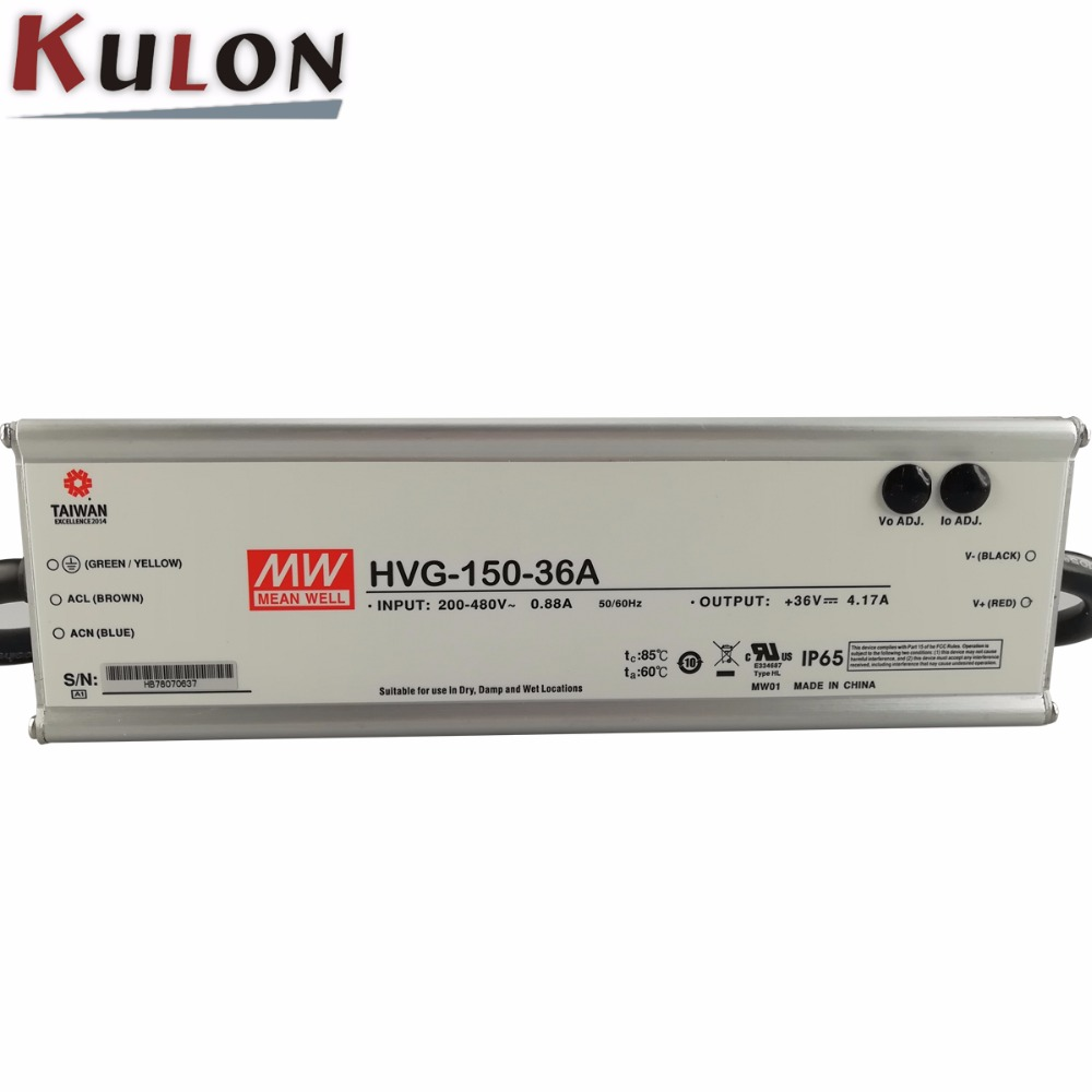 Wide input range HVG-150-30 150w power supply 30v 5a meanwell led power supply