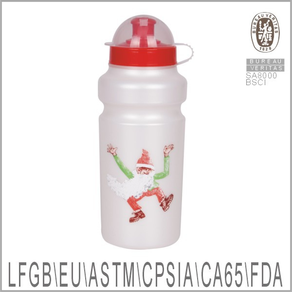 best bpa free reusable Christmas water bottles gift with dust cover 2014 trendy