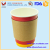 Hot cup java jacket for single wall paper cup heat insulation