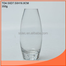 round glass vase with one bubble on the bottome for decal