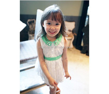 Z10028B 2015 LATEST COTTON LACE FASHIONABLE BEADED GIRL'S DREAM DRESS