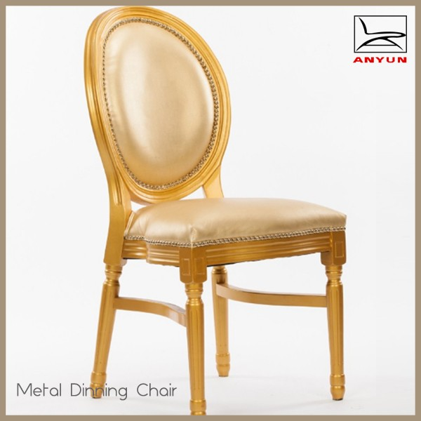 Popular restaurant furniture luxury high back wedding chair for wholesale