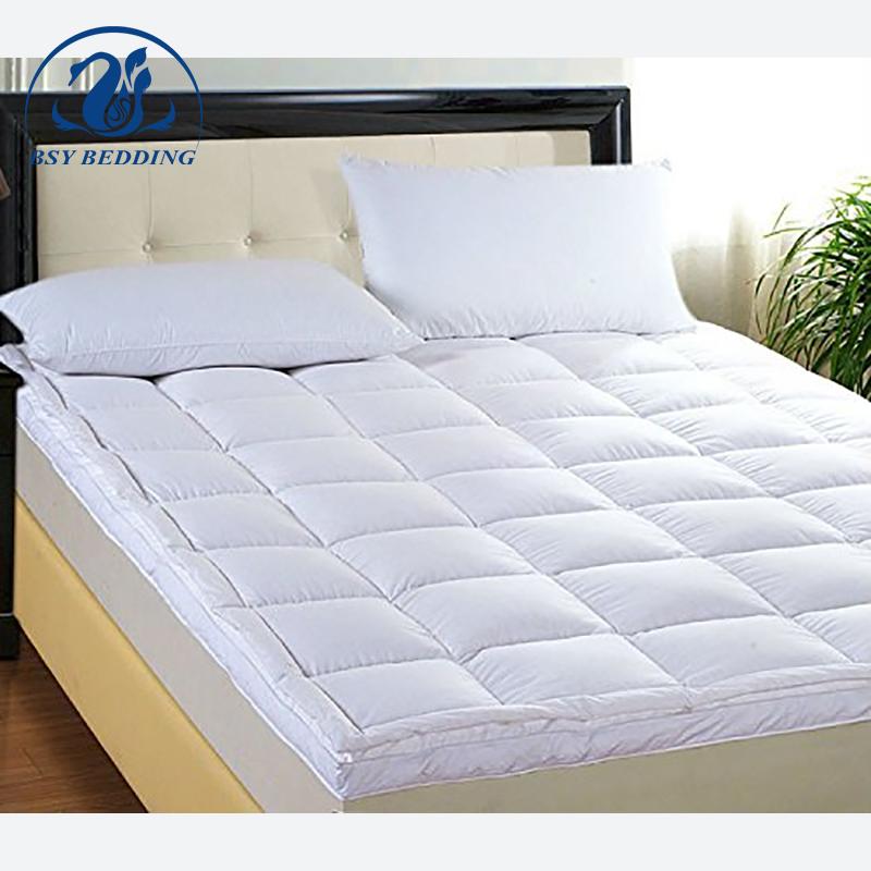 Premium Dual layer goose down feather fill white mattress topper - Jozy Mattress | Jozy.net