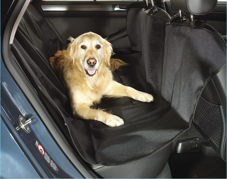 Pet travel hammock washable folding black dog front seat cover for cars