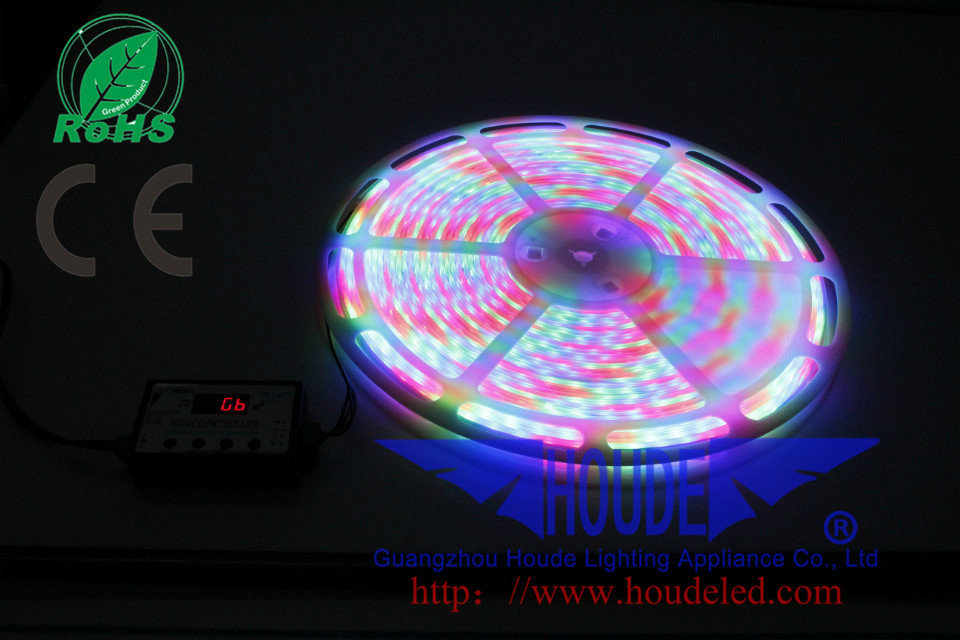 SUper bright RGB 5050SMD rgb led flexible strip guangzhou led tape smd rgb led lights 12v 24v 20m houde 5050rgb