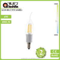 alibaba best seller chandelier 4W led filament candle bulb E12 led light