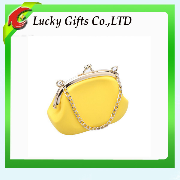 2015 New arrival jelly chain shoulderbag candy color/ladies silicone bag