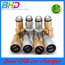 2016 Fashion Electric type and start car battery charger univeral mini DUAL USB car charger