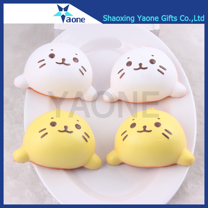 Promotional PU stress ball cat shaped cute cartoon squishy kawaii