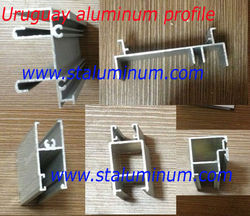 Best price 40 aluminium profile 35x35 3 track sliding with cheap
