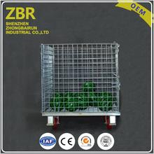 Stackable Iron Storage Mesh Pallet Box Metal Collapsible Warehouse Steel Container in Bulk Packaging
