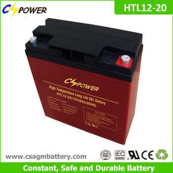12V20ah UPS battery, High temperature Deep Cycle Gel Battery