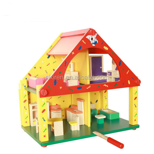 DIY Cottage Assembly Wooden Toy Doll House