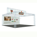 DeTIAN offer 20x20ft light weight truss trade show booth for expo
