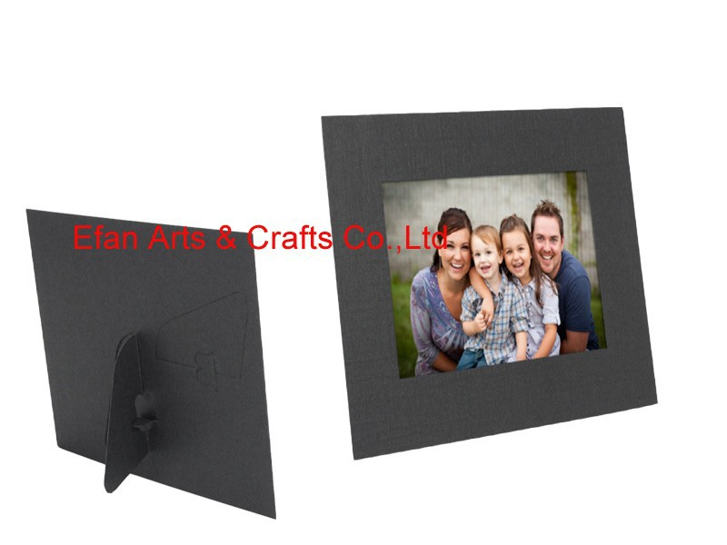 dual easel back paper photo frame in solid black