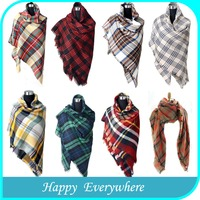 Popular ladies long red wholesale shawl scarf cashmere pashmina