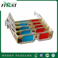 OEM kids red blue colourful frame cyan paper 3d red and blue cardboard glasses for dimensional anaglyph
