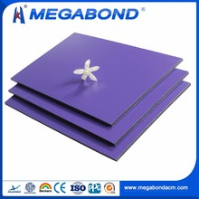 Megabond 3mm 4mm 5mm 6mm pvdf / pe coated blue aluminum composite panels