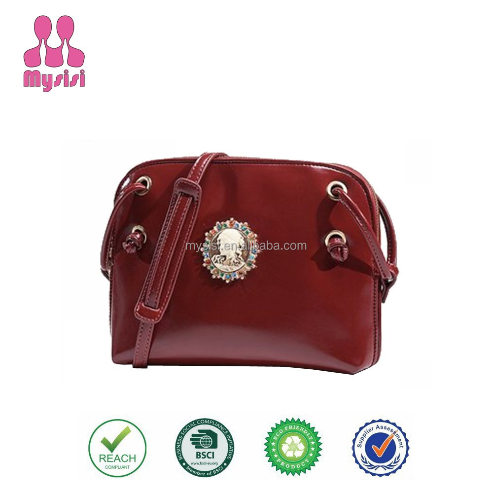 Cheap Wholesale Elegant <strong>Design</strong> Women's New Trendy Fashion 100% PU Leather Bag Lady Messenger