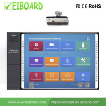 School digital interactive smart board all in one with built in pc