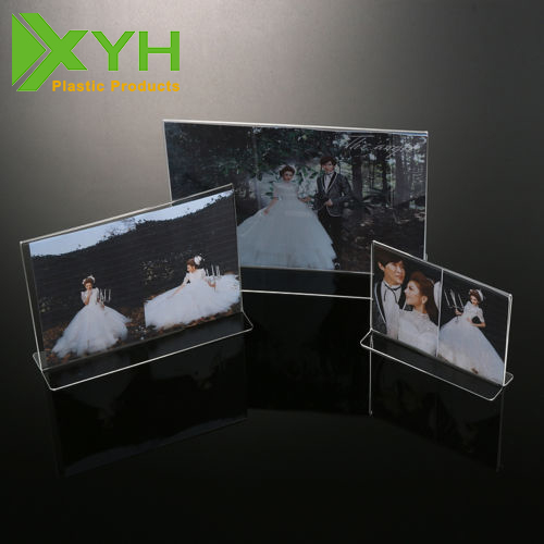 "Acrylic Photo Frames Size 5"" 6"" 7"" 8"" 10"" A4 Clear Free Standing Frames Display"