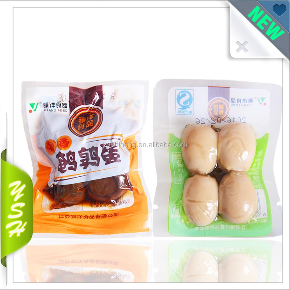 NY/PE vaccume bag boiling transparent pouch/ food plastic packing bag