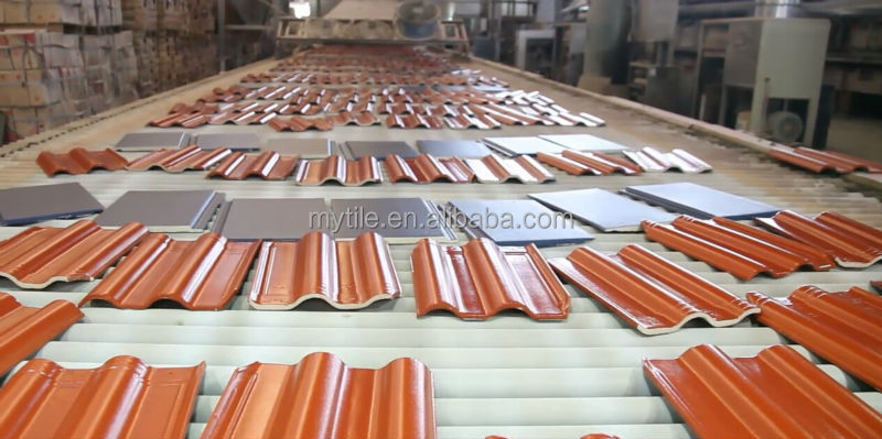 300*400mm Aoyuan glazed ceramic roof tile