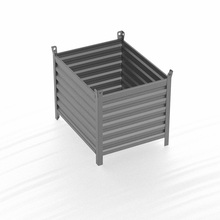 Steel powder coating pallet mesh box wire cage metal bin storage container