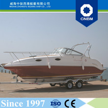 CE Certification and Fiberglass Hull Material 8.23m 27ft Affordable Yachts for Sale Dubai