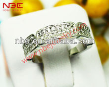 Micro pave 925 silver bands, italy design silver jewelry