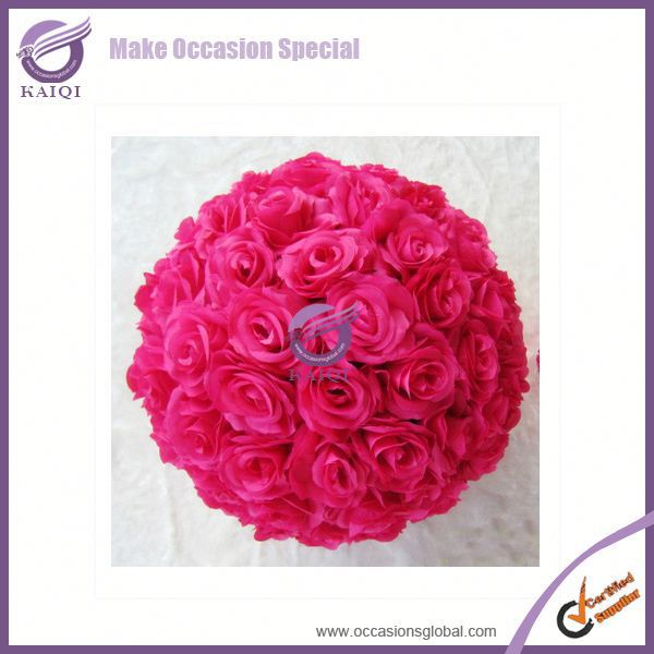 k2908 Fabric Rose Flower Kissing Ball for Wedding Decoration Supplies