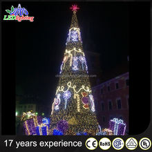 OBBO Customized 20ft 30ft 40ft 50ft Giant Outdoor Lighting Christmas Tree