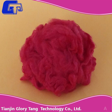 Red viscose staple fiber use for spinning