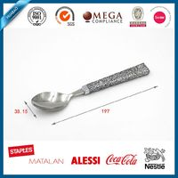Bling plastic handle stainless steel salad spoon set for promotion
