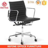 low back black cow leather danish design emes office charles earmes replica chair RF-S072
