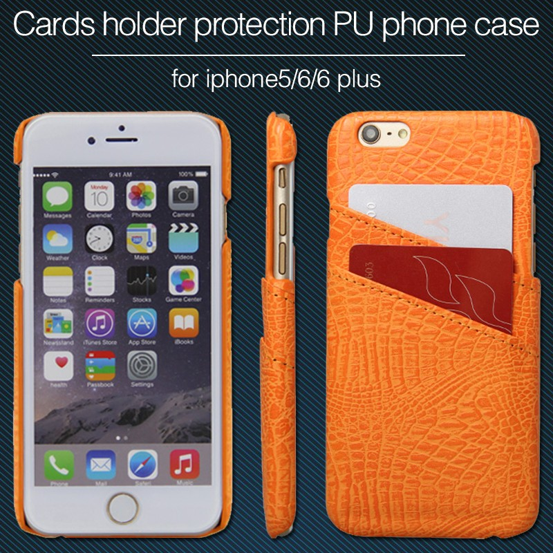 2016 Fashionable Foldable Stand card holder Mobile Phone Leather Case For iPhone 6/6Plus