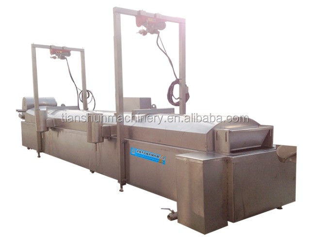 China Automatic Continuous Conveyor Fryer Potato Chips Making Machine Manufacture