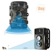 Hunting Trail Camera H3 Black Infrared Scouting Cameras 8MP 720P IP66 Waterproof