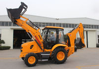 construction machine equipnment/second hand/used/cheap/skid steer/ best price 4CX wheel mini backhoe loader
