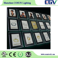 super slim acrylic light box photo-frame with led light inside