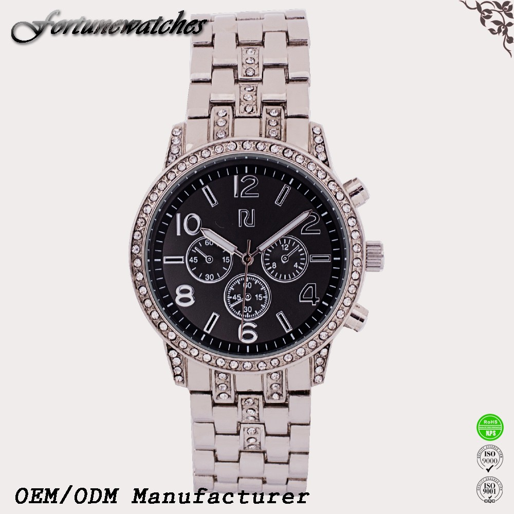2016 Quartz stainless steel watch black watch for man