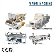 Automatic vacuum clay brick making equipment-brick clay box feeder/cutter/slitter