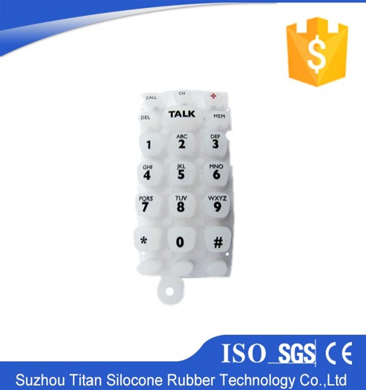 Customized high quality liquid titan gel silicon rubber keypad
