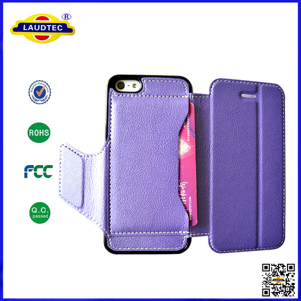 New Products Lichee Pattern Magnetic Leather Flip Case Cover for Apple iPhone 5 5G 5S