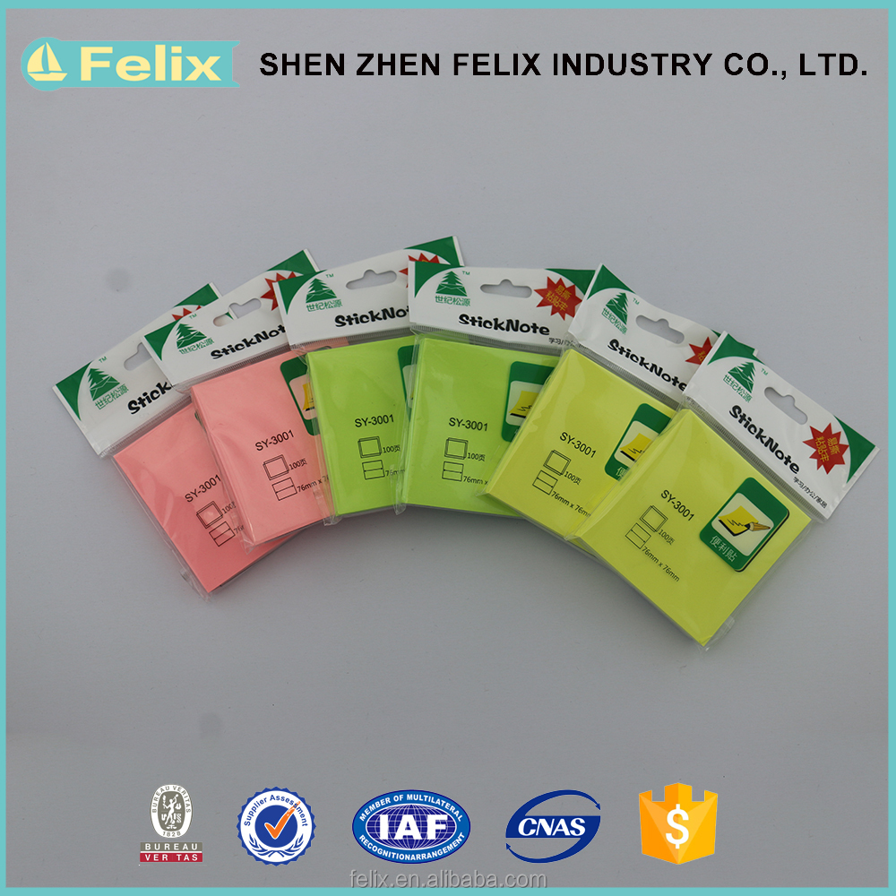 Wholesale 76*76MM Sticky Notes , Letter Shaped Memo Pad