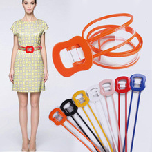 2018 hot selling new fashion Transparent plastic belt buckle pvc belt