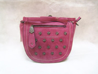 fashion studs lady satchel shoulder bags