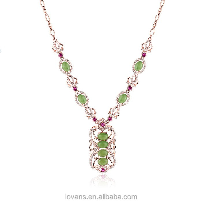 Natural Stone Necklace Light Weight Diamond Necklace Set Most Popular Products China