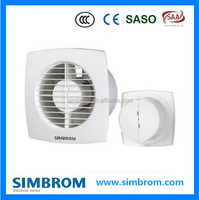 4'' ventilation fan / square window washroom toilet exhaust fan PP / ABS plastic 15W grille type